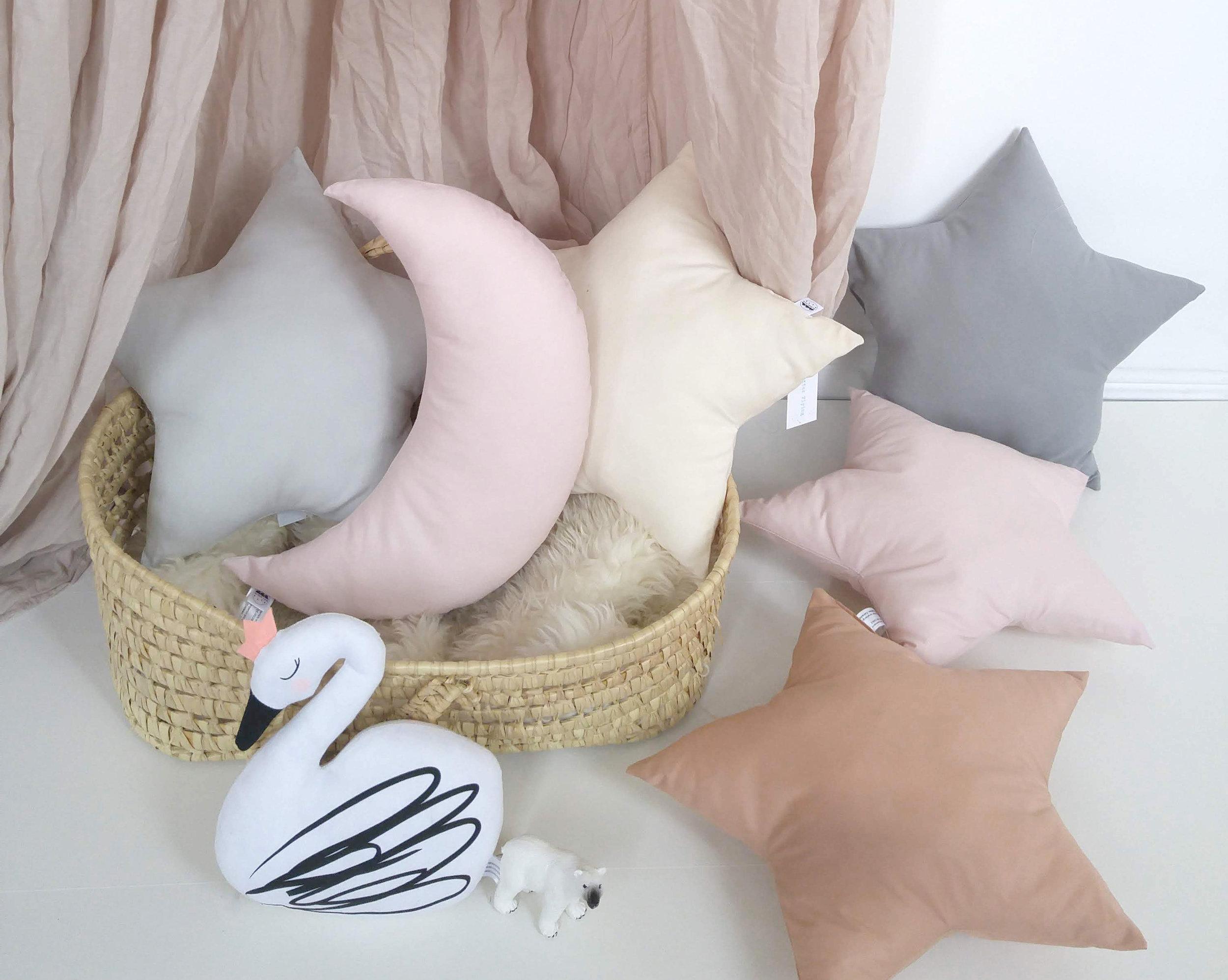 The Butter Flying- New Moon cushion-Star cushion 1.jpg
