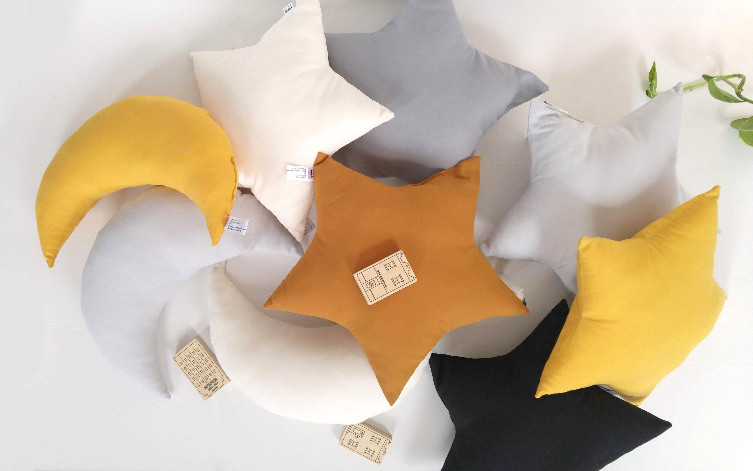 The Butter Flying- New Moon cushion-Star cushion 4.jpg