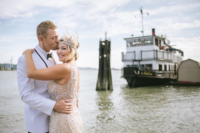 From Bree & Fraser's one year anniversary celebration ❤️ I'm so in love with their 1920s theme. This was photographed at @officialvancouverpaddlewheeler . Same day as the pride parade in New Westminster 🌈 . . . Makeup/hair @musebeauty.co . . . #weddingphotography #vancouverweddingphotographer #newwestminsterbc #weddinganniversary #vancouverwedding #vancouverbridal #vancouvercouple #newwestminsterphotographer #newestminster #belovedstories #weddinglegends #couplesgoals #photobugcommunity #pnwweddings #togetherweroam #belovedstoriesdate #junebugweddings #bridesrealweddings #weddingphotoinspiration #outdorwedding #dearphotographer #weddingchicks #beyondthewanderlust #weddinganniversary #oneyearanniversary #anniversaryphotoshoot #温哥华摄影师 #温哥华婚礼