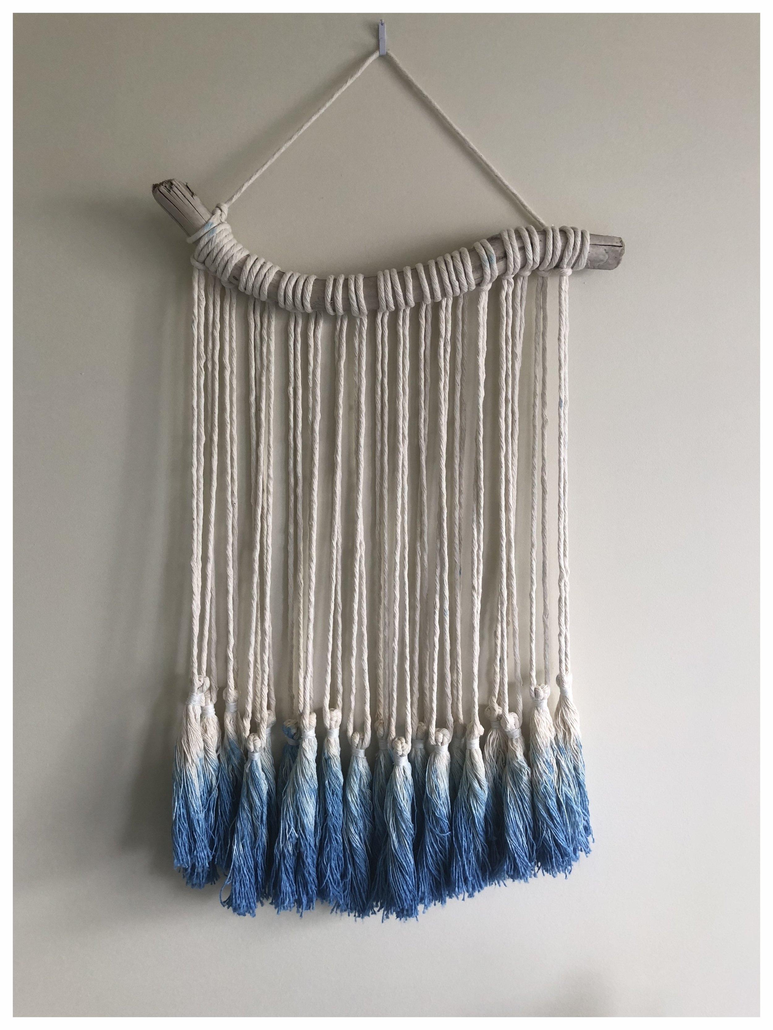 Handmade macrame wall hanging artwork | Ombre dye £64