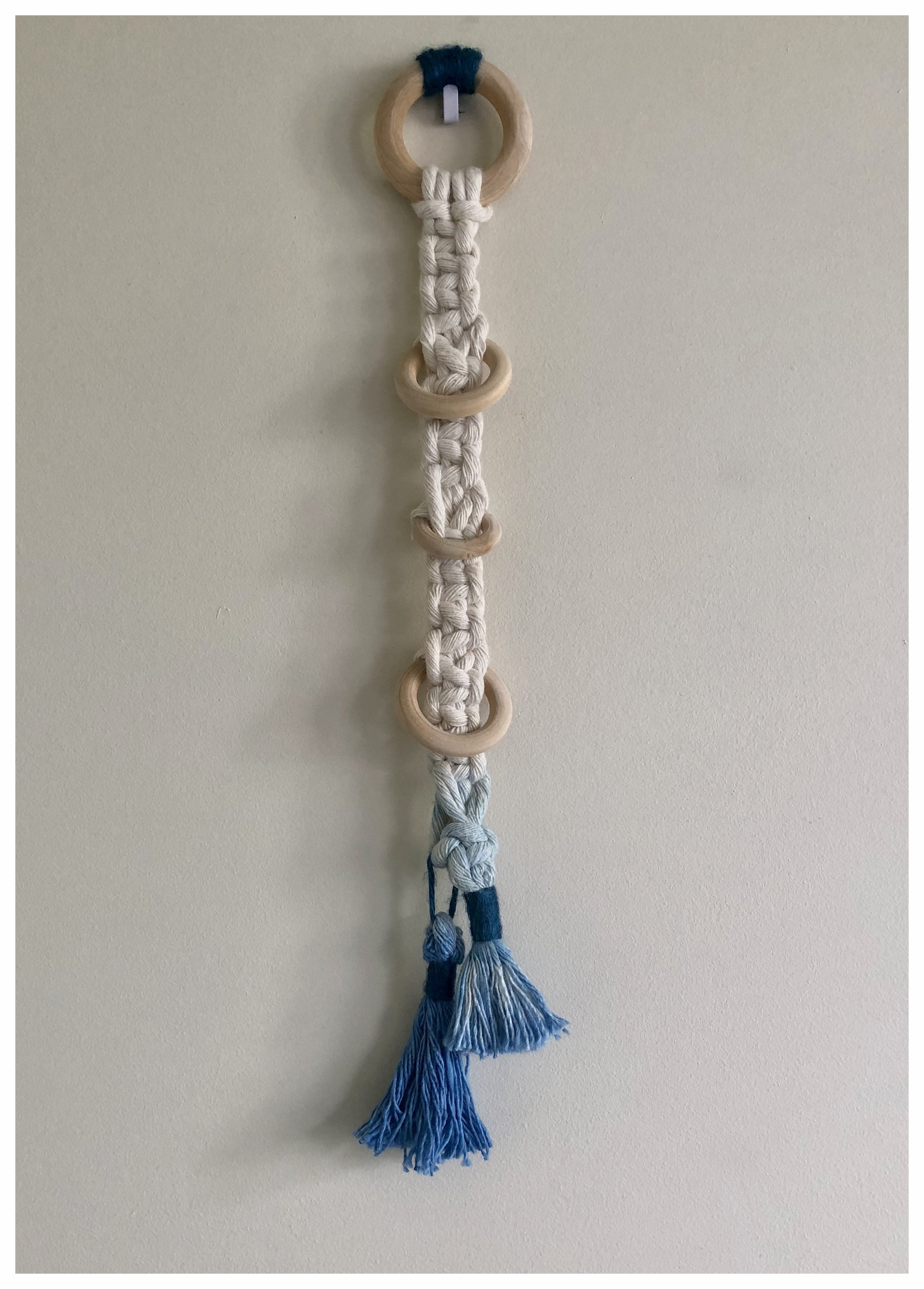 Handmade small macrame wall hanging | Ombre dyed £16