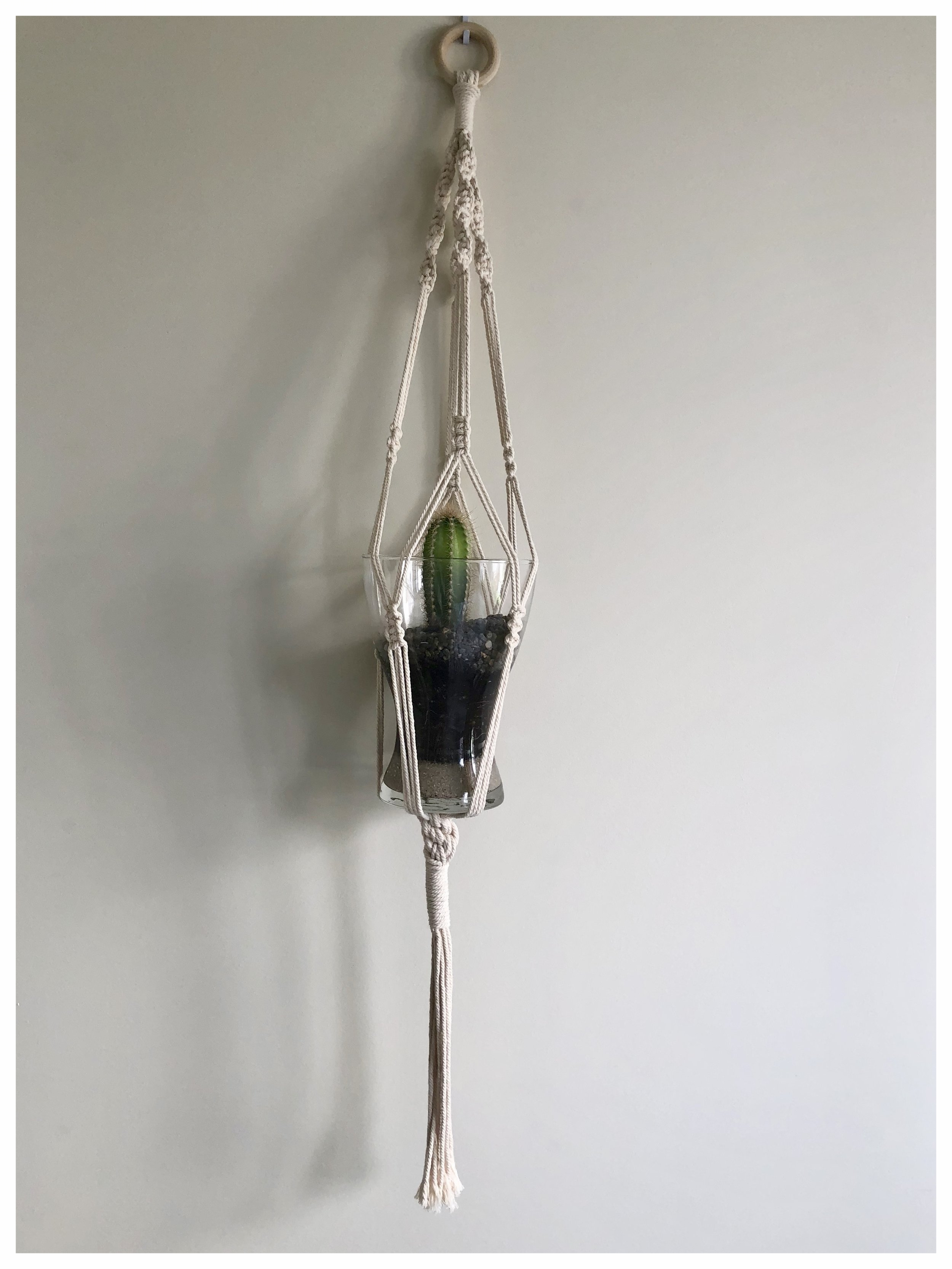 Handmade macrame plant holder £25