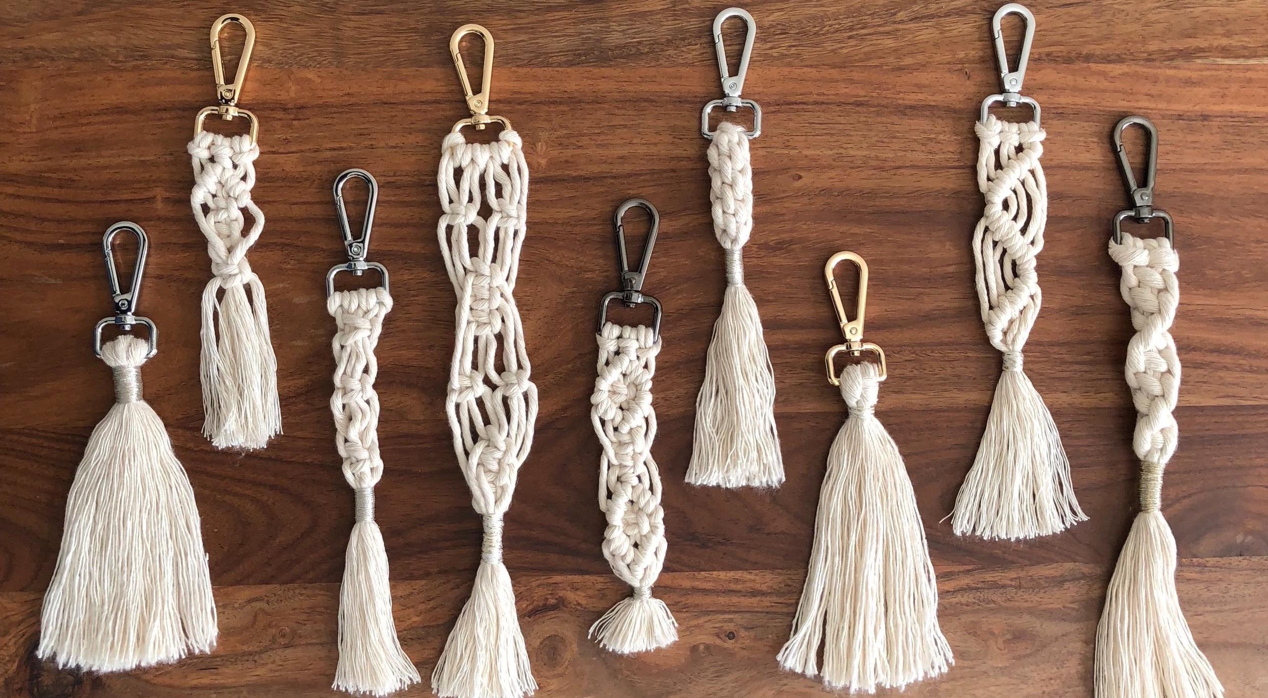 Handmade natural cotton macrame key chain | Bag charm £8 each