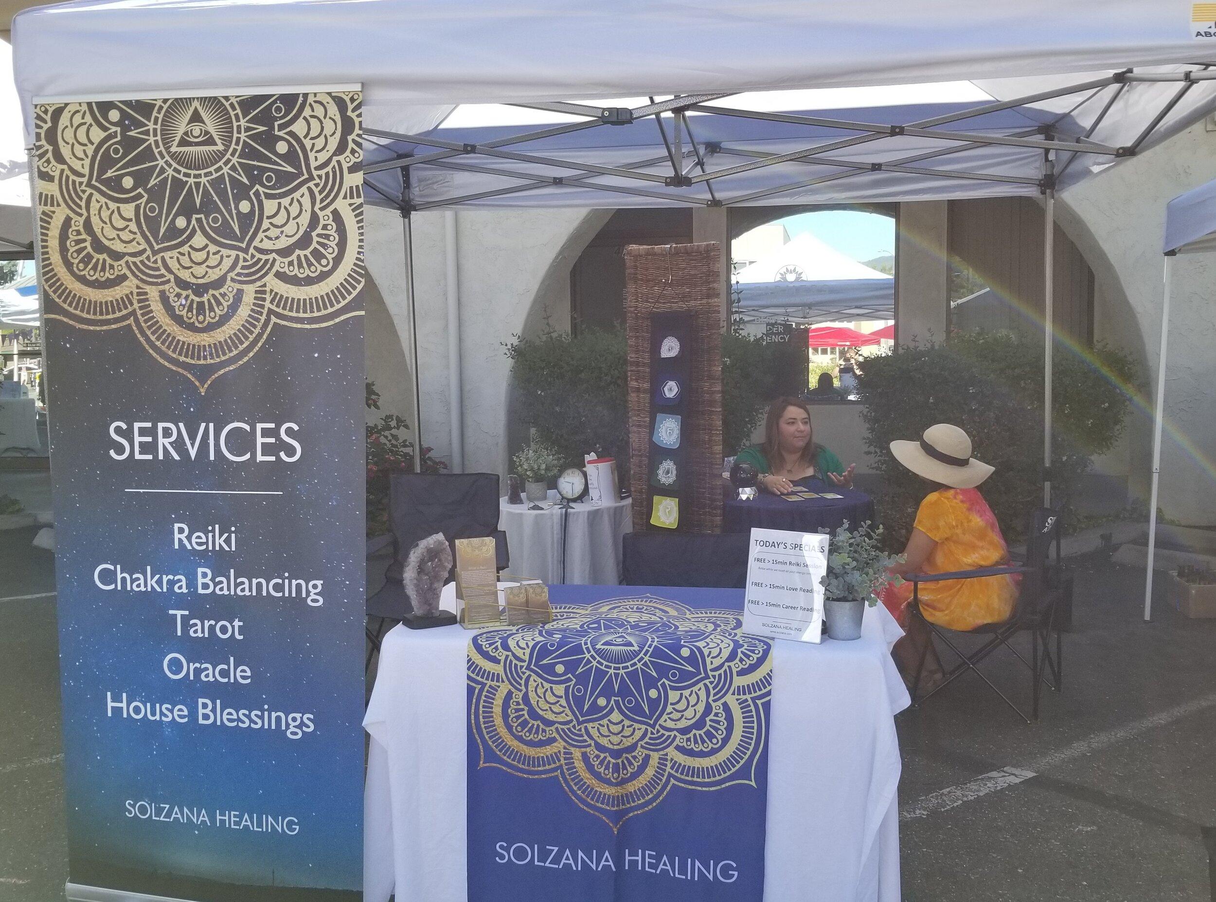 Last years Solzana Healing Booth (Aug. 2018)