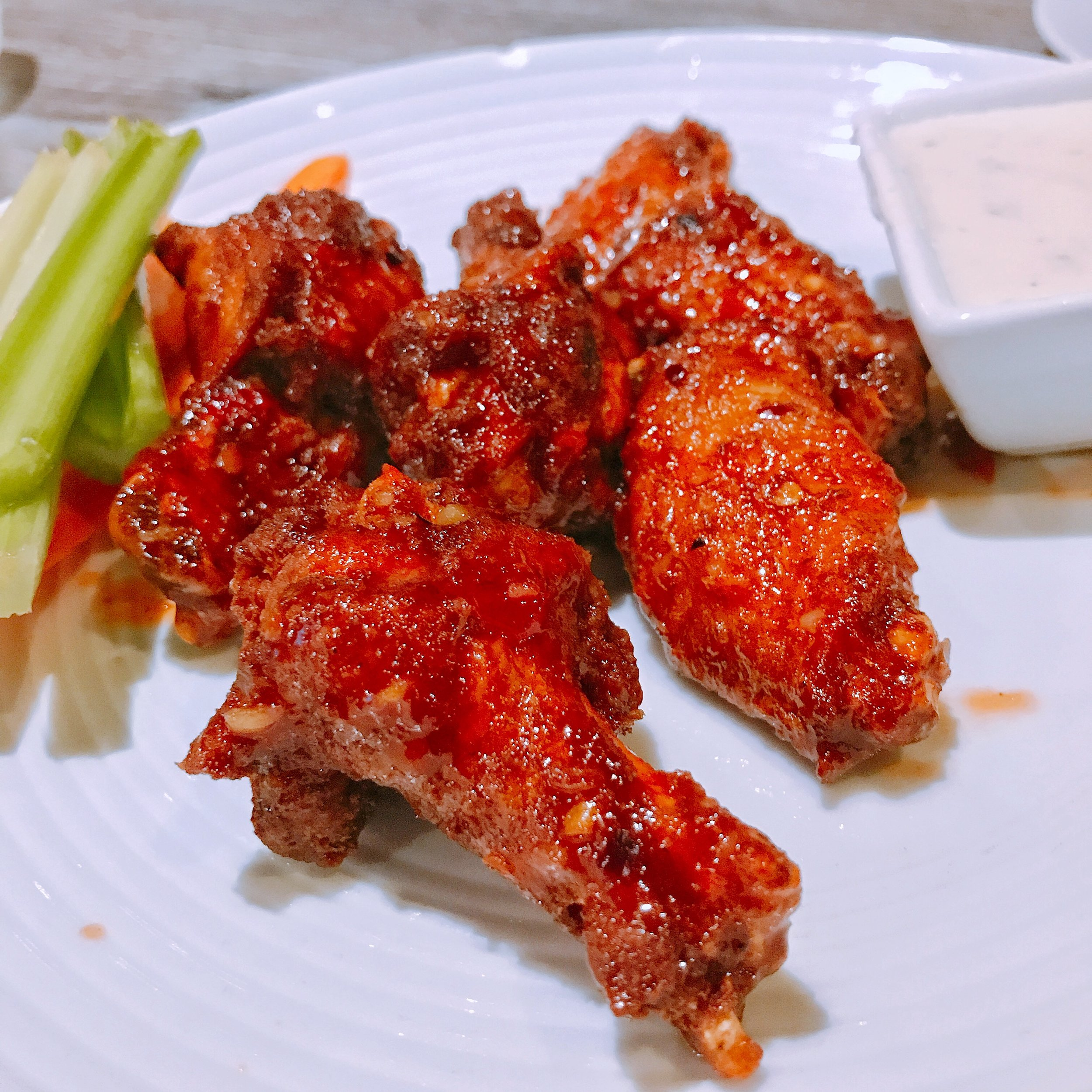 Thai Chicken Wings - As a self proclaimed chicken wing tastemaster, I had to get an order of the wings. These crispy chicken wings coated with housemade Thai wings sauce were on point. The sauce coating the wings was super flavorful, and I must say these are some of the best wings in Charlotte. I know it seems odd to go to a Thai restaurant for wings, but trust me….get an order and thank me later.