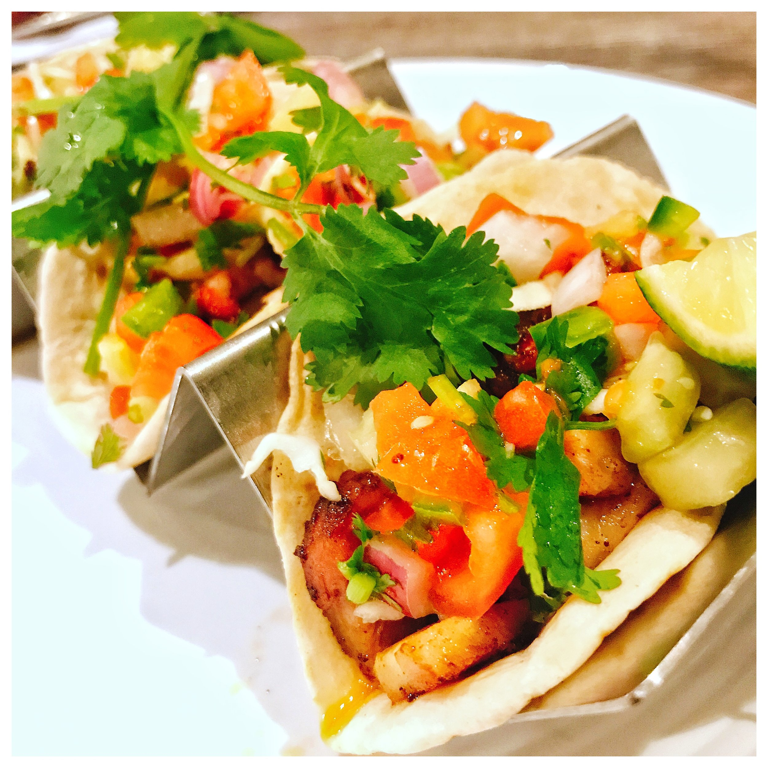 Pork Belly Tacos - Well when pork belly is on the menu, you order it! I was actually really surprised at the sheer amount of pork belly that Deejai fills these tacos with! Every bite was delicious! These are topped with a fresh Pico de Gallo as well to add a bit of freshness. Overall really good tacos!