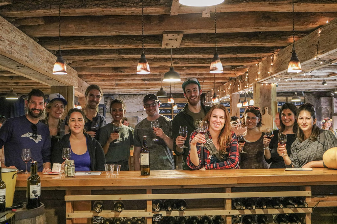 A group from Trails & Ales stopped by and they were an absolute blast! Trails & Ales is an adventure company that connects city dwellers with the best local hikes, views, vineyards, and breweries in the DC area. Click on the image to visit their website.
