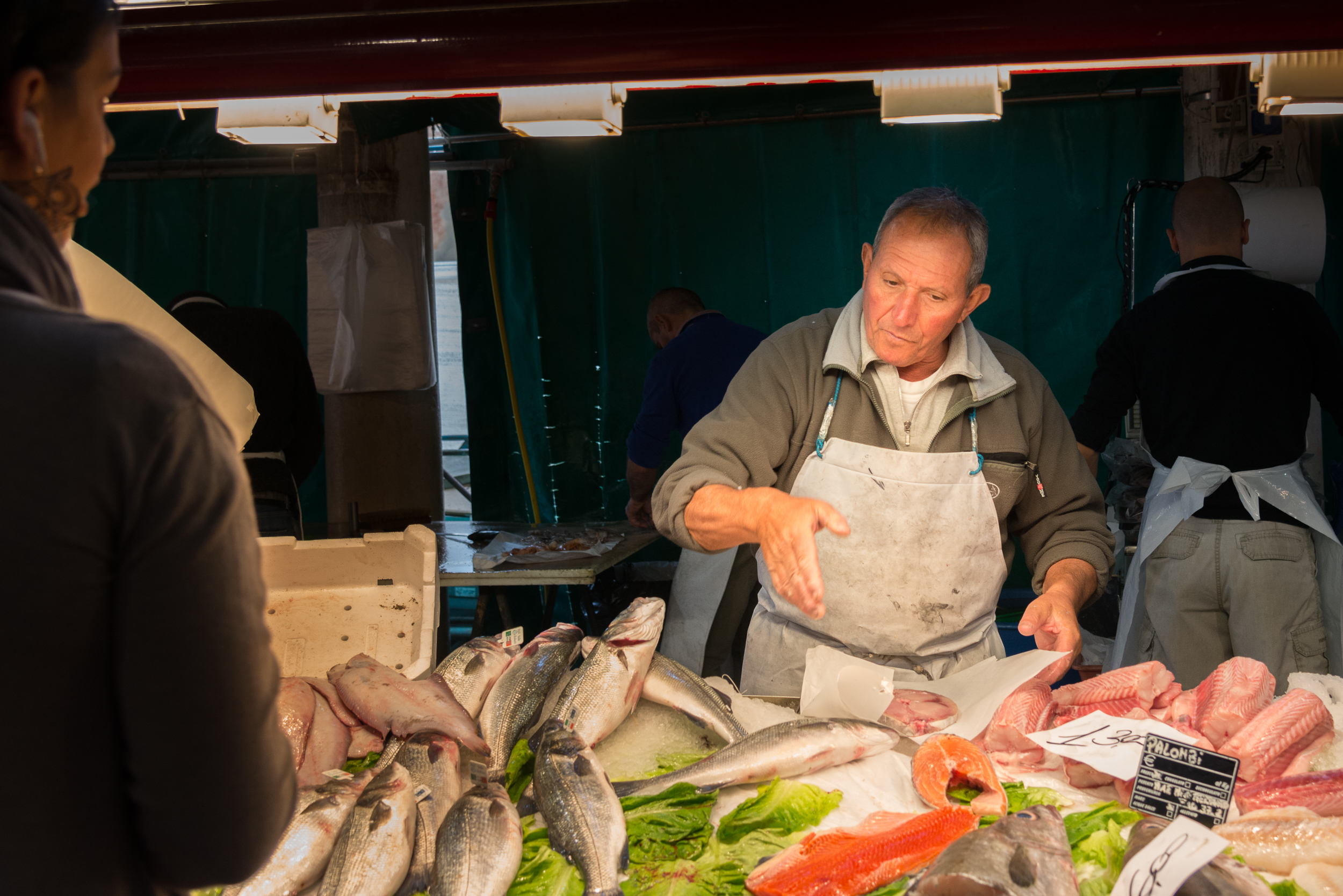 Fish for Dinner Mercato del Pesce, Venice; detail 2