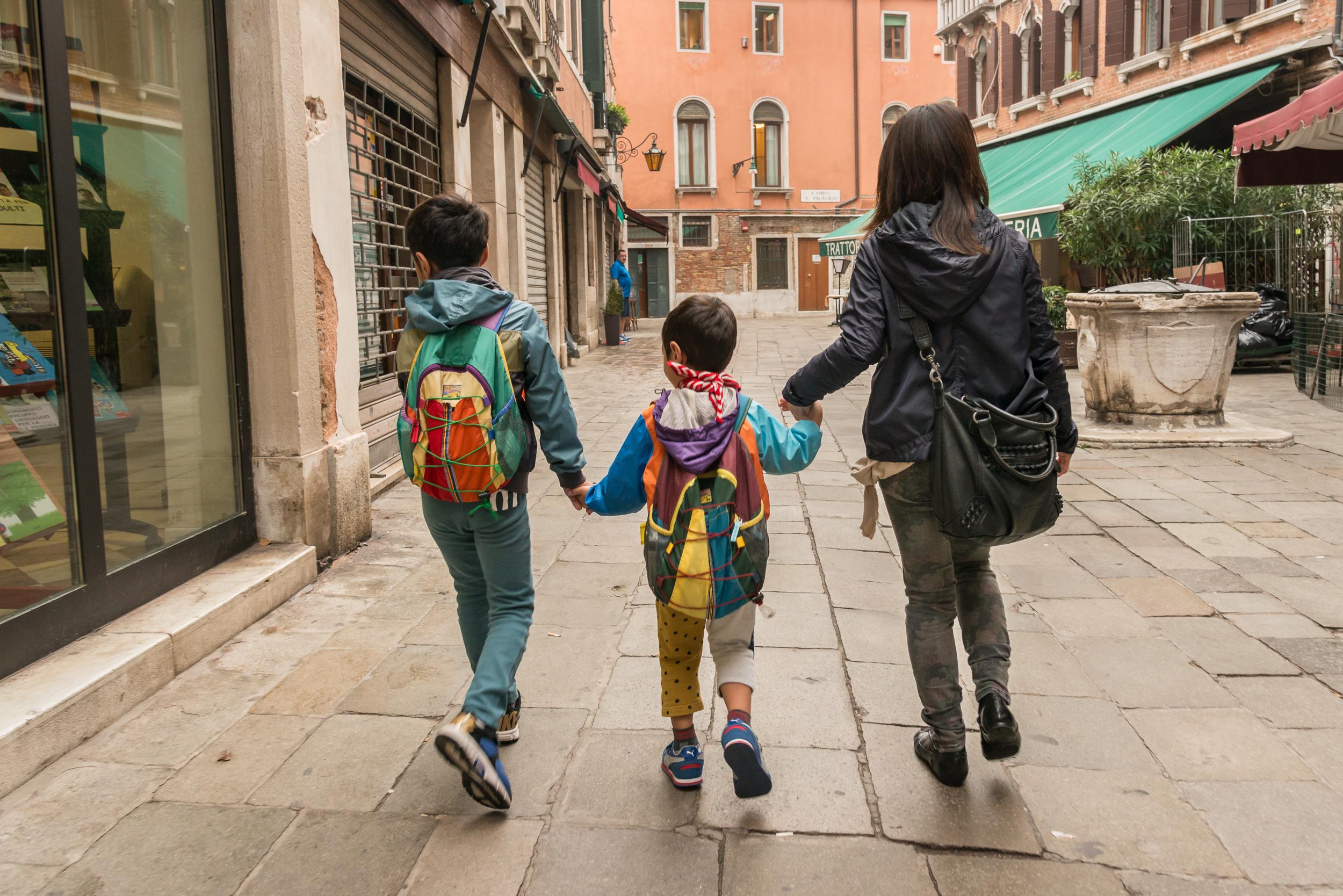 Off to School Fundamenta Osmarin, Venice