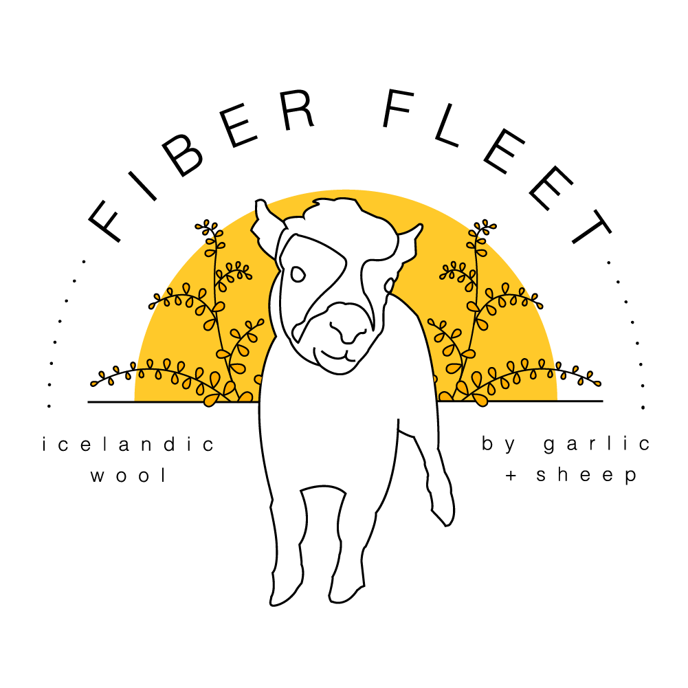 Welcome to our new quarterly subscription. - Fiber fleet is for lovers of agriculture, education, knitting, crochet, and people who generally just love soft cuddly animals.  By becoming a member, you help the herd at Garlic + Sheep pay their bills, get good wool that's been raised sustainably , support an art genre and get sheep swag.  Find out more here.
