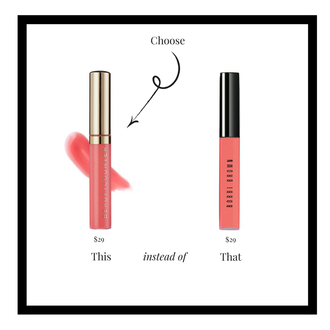 One swipe of this moisturizing gloss saturates lips in beautifully sheer color and high-impact shine. Infused with a delectable natural vanilla flavor and featuring a unique teardrop applicator, this formula goes on smoothly with no stickiness.