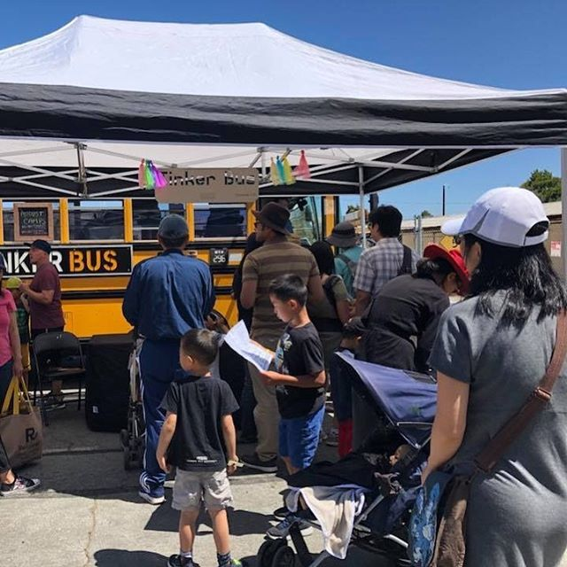 Thanks for the enthusiastic beginning! We are on to great to things. #thetinkerbus #minimakerfaire2018