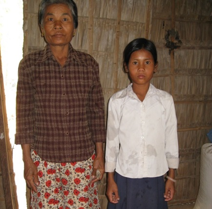 Vhurty and her Grandmother before she came to live at Mekhala House