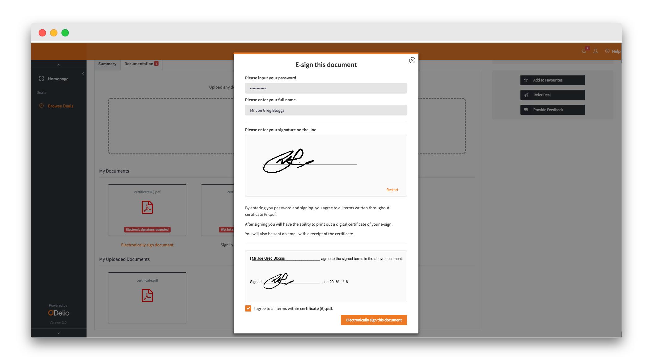 Execution - Compliant E-Signatures