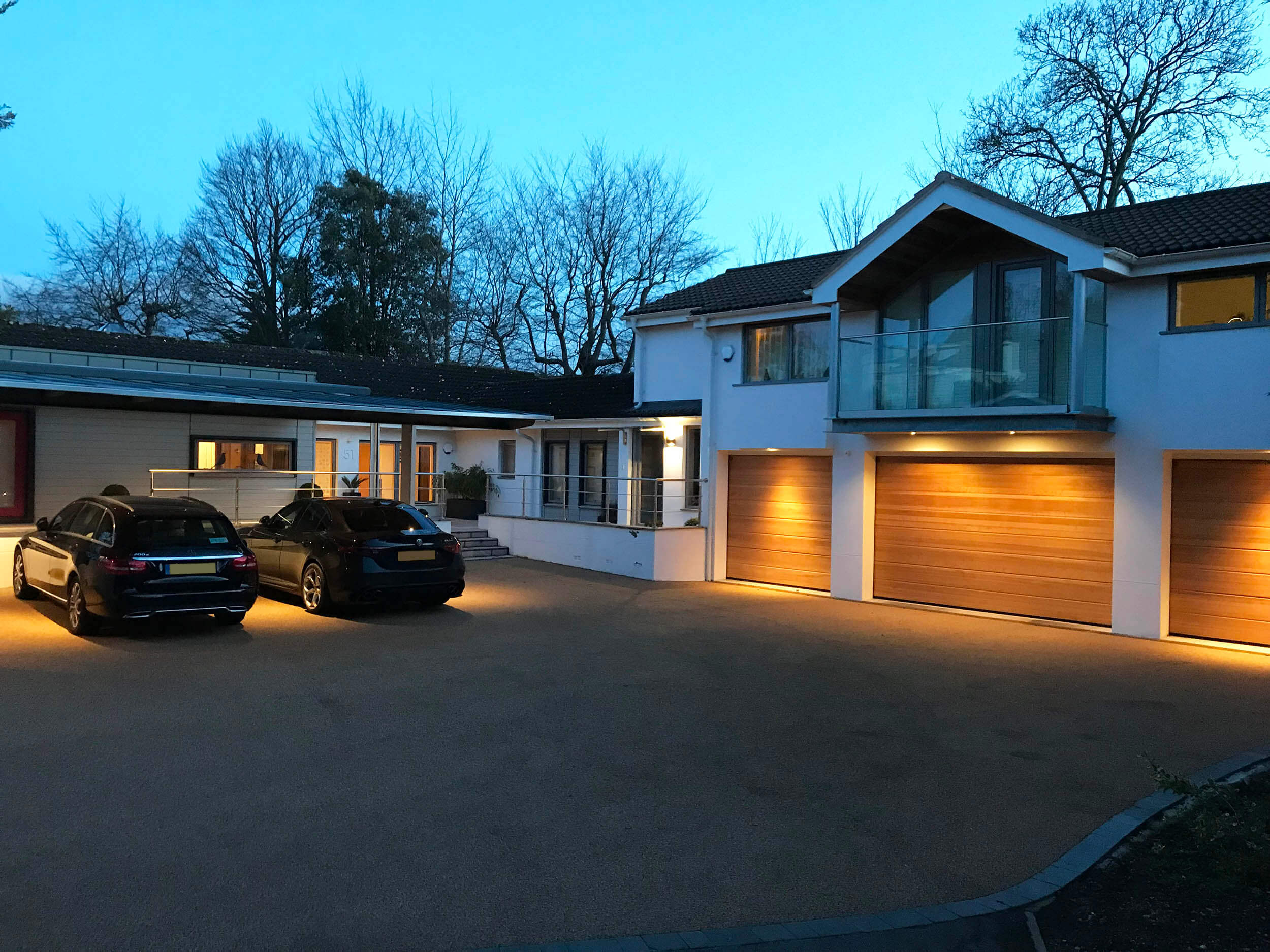 Front elevation - night