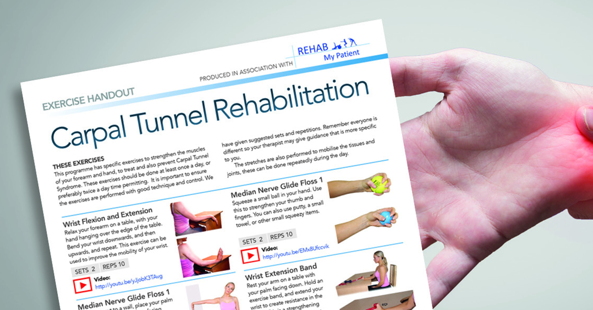 handouts for carpel tunnel rehabilitation