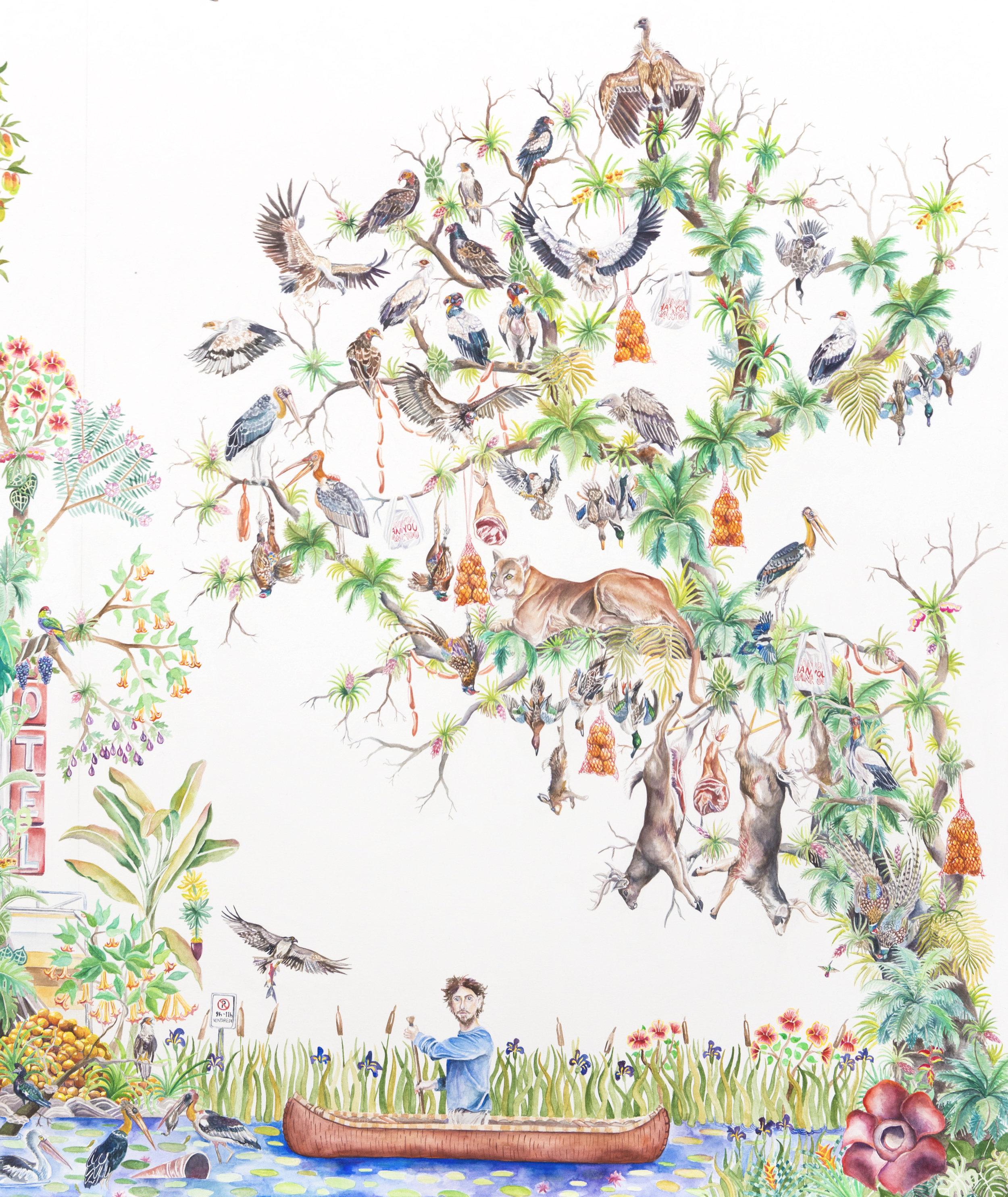 Strange New Eden (detail view, right panel)