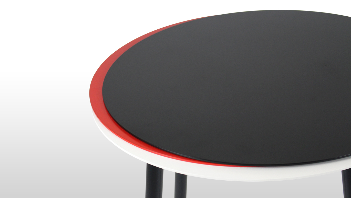 Stacked Side Table (Black White Red) - Detail.jpg