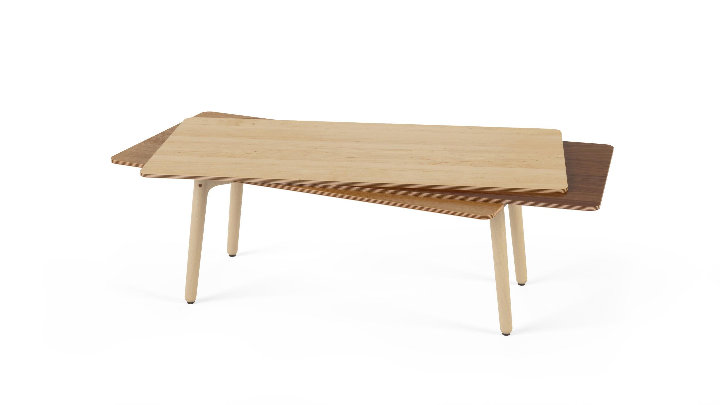Stacked Coffee Table (Wood) - Maple, Walnut, Oak.jpg