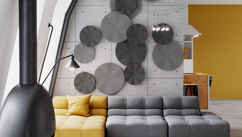 FLUTTER acoustic panels — STUDIO HEMAL PATEL