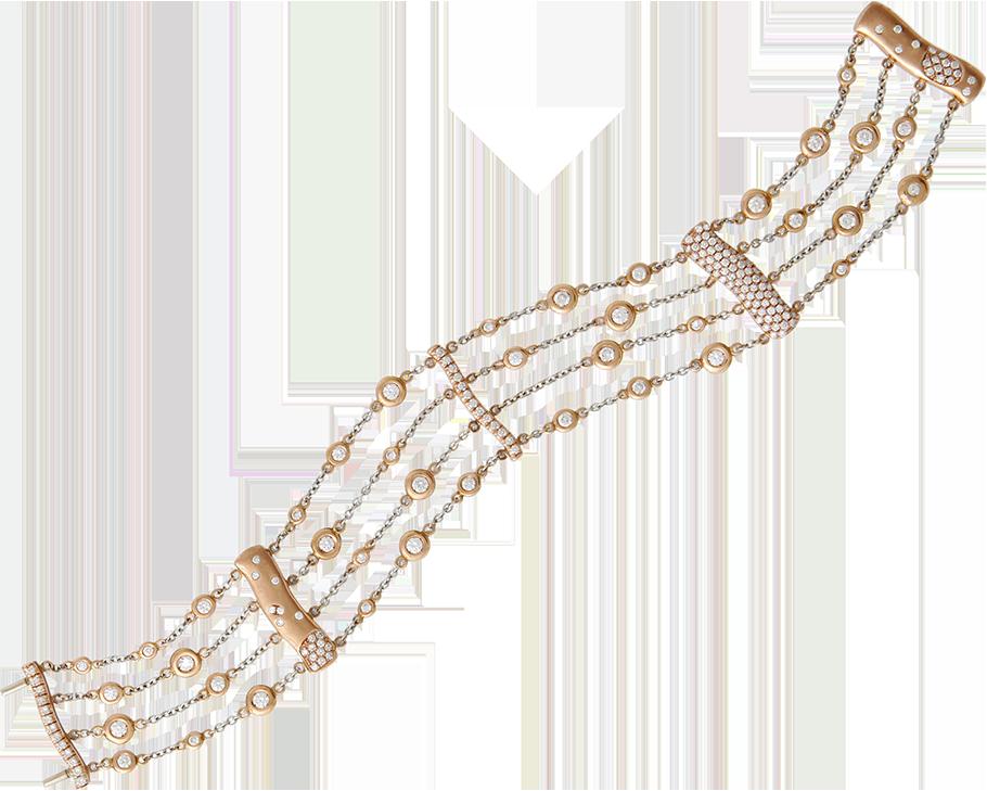 FRIDA   Fine Jewellery. Strata™ Collection. Custom designed 18kt pink gold chain bracelet set with diamonds.png