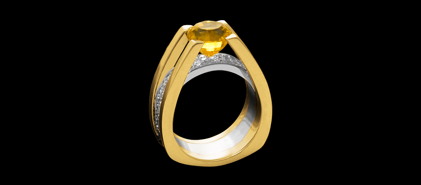 FRIDA | Fine Jewellery. YELLOW SAPPHIRE SUNNA, ENGAGEMENT RING.