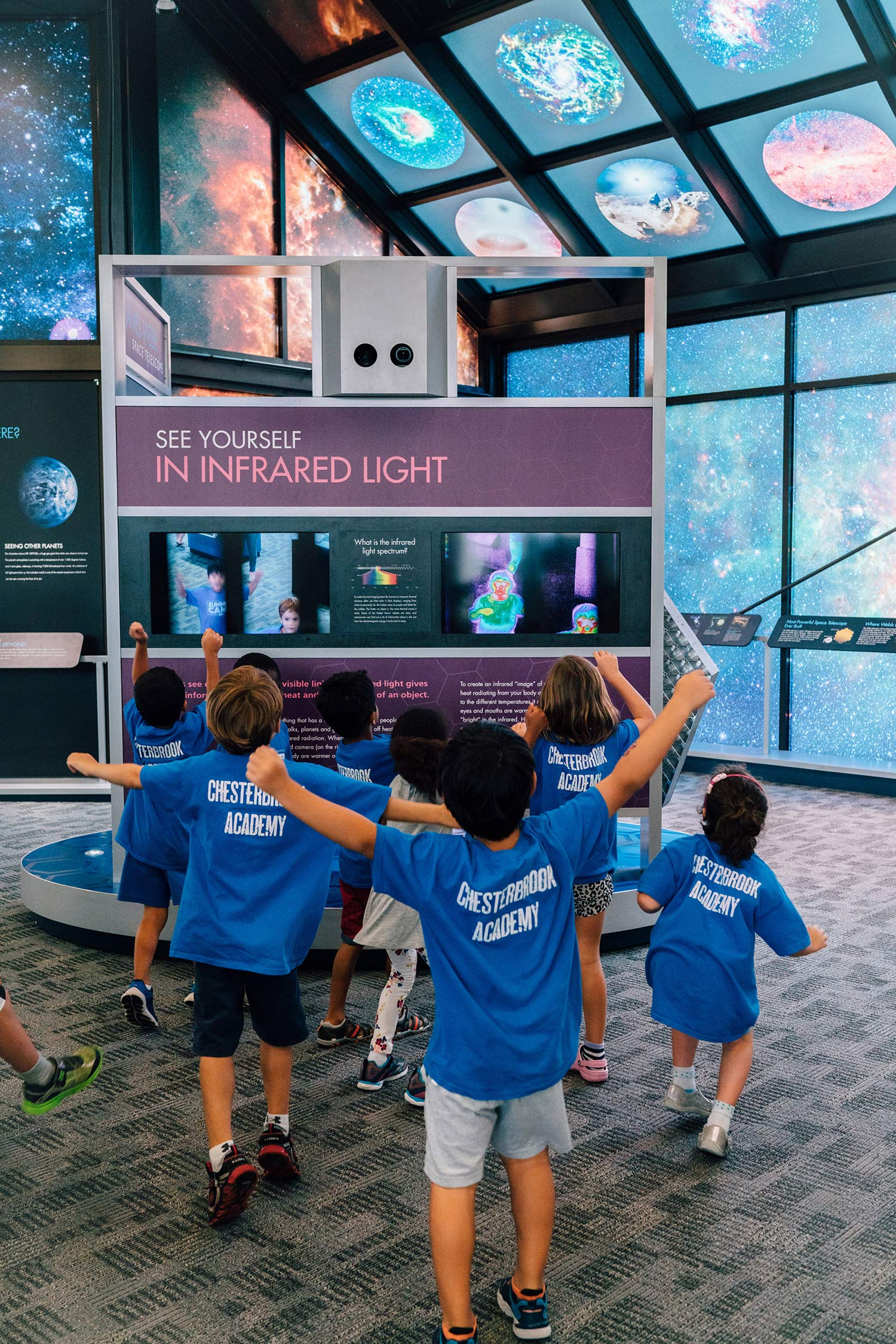 James Webb Space Telescope Infrared Camera Exhibit