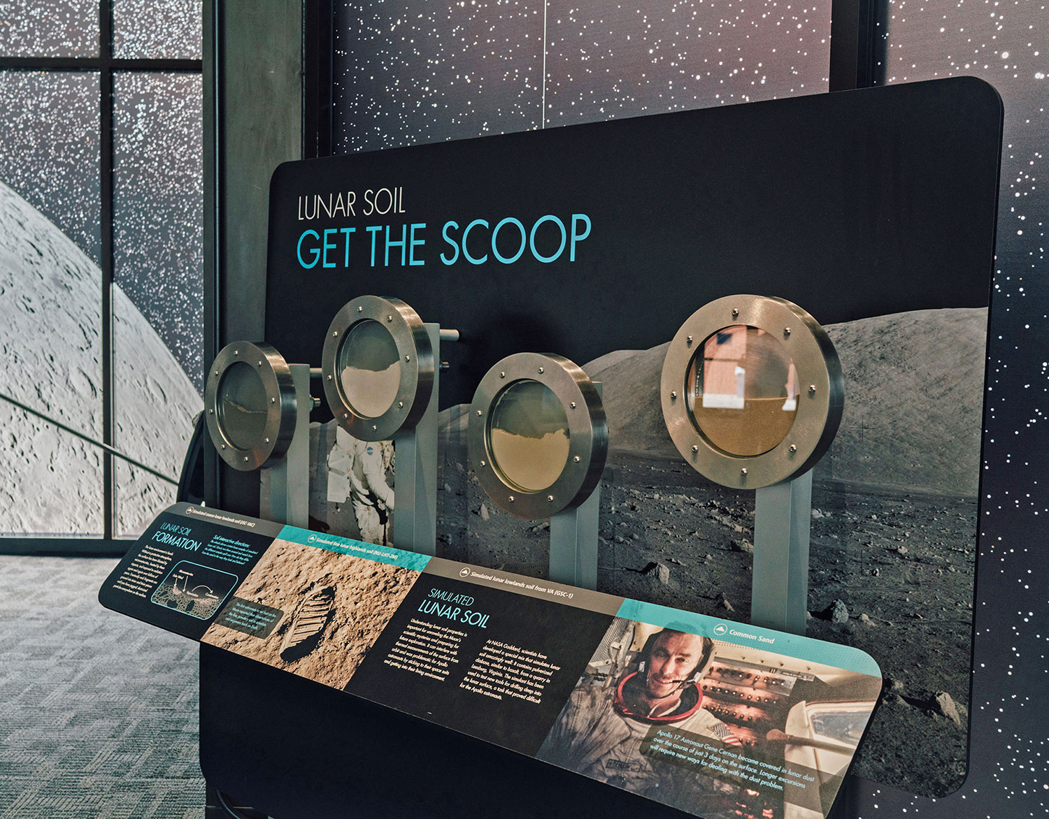Lunar Soil Exhibit