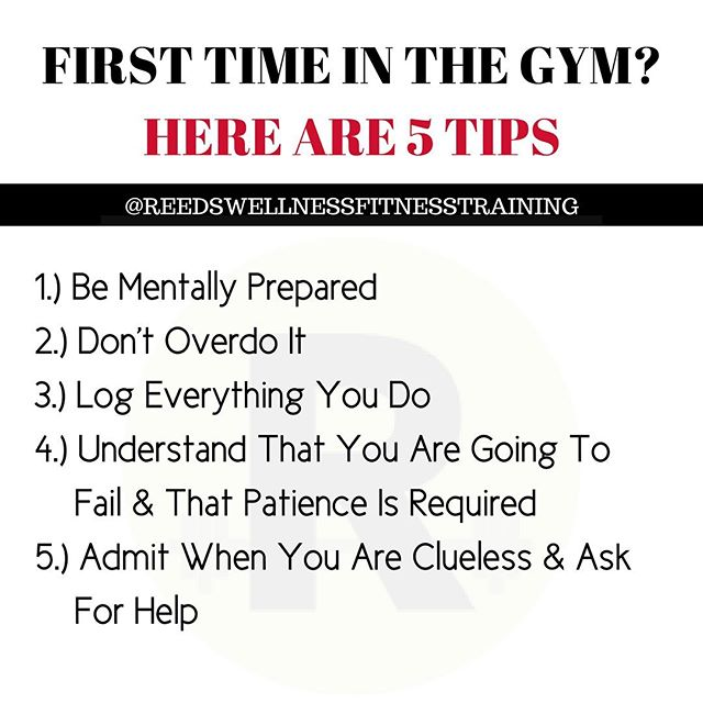 "First time in the gym? Here are some tips:⁣⁣⁣⁣ ⁣ 1️⃣𝐁𝐞 𝐌𝐞𝐧𝐭𝐚𝐥𝐥𝐲 𝐏𝐫𝐞𝐩𝐚𝐫𝐞𝐝⁣⁣⁣⁣ ➡️As a personal trainer, I feel more confident knowing where everything is & I recommend you do the same.⁣⁣⁣⁣ ➡️Understand that everyone else who is there is working on themselves just as you are working on yourself. Everyone has their own lives going on. I promise they are not worrying about what you are doing. That's not meant to be rude; it's just the truth. When I walk in the gym, my goal is to get a good workout in & get out — not to mingle & worry what everyone else is doing.⁣⁣⁣⁣ ⁣ 2️⃣𝐃𝐨𝐧'𝐭 𝐨𝐯𝐞𝐫𝐝𝐨 𝐢𝐭⁣ ➡️Want to know what I tell my clients on their first day? Just like this, ""my goal is not to kill you nor make you so sore that you are limping tomorrow or the day after. My goal is for you to progress, & for you to progress, you have to return for day 2, 3 & day 300."" Consistency is key & you can't be consistent if you overdo it the first day.⁣⁣⁣⁣ ➡️If it is your first day, walk in with a plan. Choose 4–6 basic movements that work the full-body & learn to do them correctly for 2–3 sets of 10–12 slow & controlled repetitions. After you've learned these movements & you've completed the first 1–2 weeks, then increase the number of sets or weights. Having a plan trumps you aimlessly wandering around.⁣⁣⁣⁣ ⁣⁣⁣⁣ Need some basic movements? Try these four exercises: Goblet Squats, Push-Ups, 1-Arm Rows, Dead bugs⁣⁣⁣⁣ ⁣ 3️⃣𝐋𝐨𝐠 𝐄𝐯𝐞𝐫𝐲𝐭𝐡𝐢𝐧𝐠 𝐘𝐨𝐮 𝐃𝐨⁣ I'm a big fan of you logging your workouts. Simply track what exercise you perform, how many sets & reps & what weight you use for each set. You can write all this down in a journal or use your phone. I use an app for all of my clients. This helps them keep track of what weight they use overtime & what their progression looks like overtime to ensure that they are getting stronger & seeing results.⁣⁣⁣⁣ ⁣ 4️⃣𝐔𝐧𝐝𝐞𝐫𝐬𝐭𝐚𝐧𝐝 𝐓𝐡𝐚𝐭 𝐘𝐨𝐮 𝐀𝐫𝐞 𝐆𝐨𝐢𝐧𝐠 𝐓𝐨 𝐅𝐚𝐢𝐥 & 𝐓𝐡𝐚𝐭 𝐏𝐚𝐭𝐢𝐞𝐧𝐜𝐞 𝐈𝐬 𝐑𝐞𝐪𝐮𝐢𝐫𝐞𝐝⁣⁣ By understanding this, you'll have the mindset that you are not going to see a huge transformation in 30-days or even 90-days. It takes time therefore patience is key to consistency."