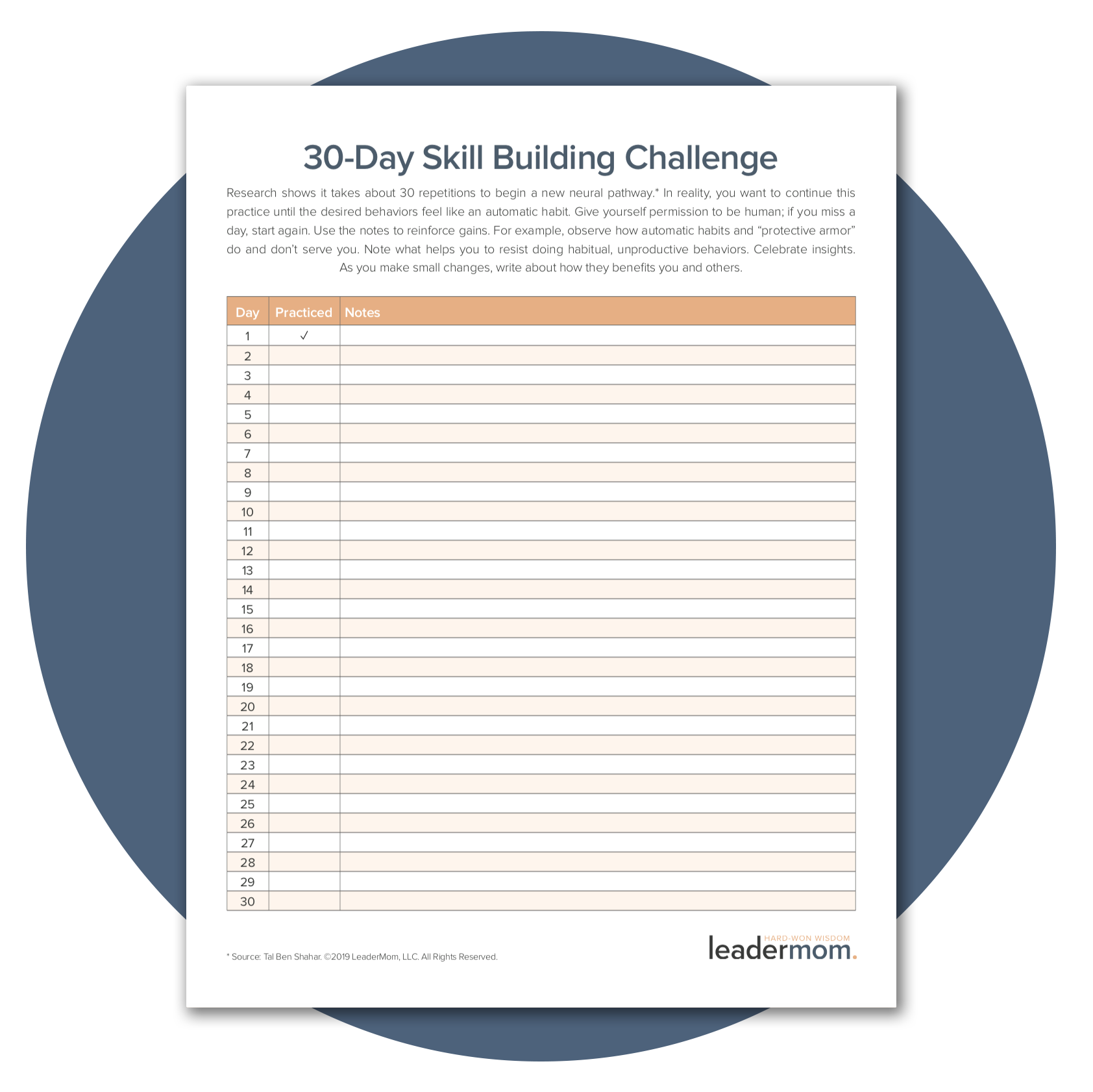 Download the    30-Day Skill Building Challenge Worksheet    to deliberately practice.