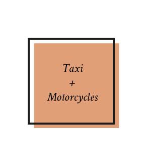 Une file de dépose minute pour les taxis et motos