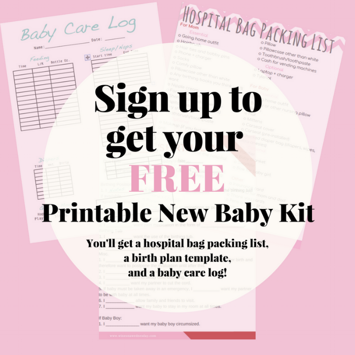 free downloadable new baby kit!