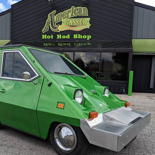 Our favorite little electric car is all done and back in the hands of it's owner! This 1982 CitiCar is truly one of a kind. Custom fabbed/ reworked suspension with full on board air ride setup, all new electric drivetrain, custom fabbed bumpers, new interior, and of course the fresh electric green paint job to highlight a few of the modifications that we did. Love it or hate it, it'll be turning heads anywhere it goes! 😎 . . . #american_gasser #americanmuscle #gasser #customcars #fabrication #hotrod #hotrods #classiccars #musclecars #racecar #classicsdaily #streetcar #custom #projectcar #streetmachine #musclekings #gearhead #smallblock #bigblock #hotrodsandmusclecars #gassernationusa #electricvehicle #electriccar #ev #citicar #1980s #ninjaturtles #thesilentkiller