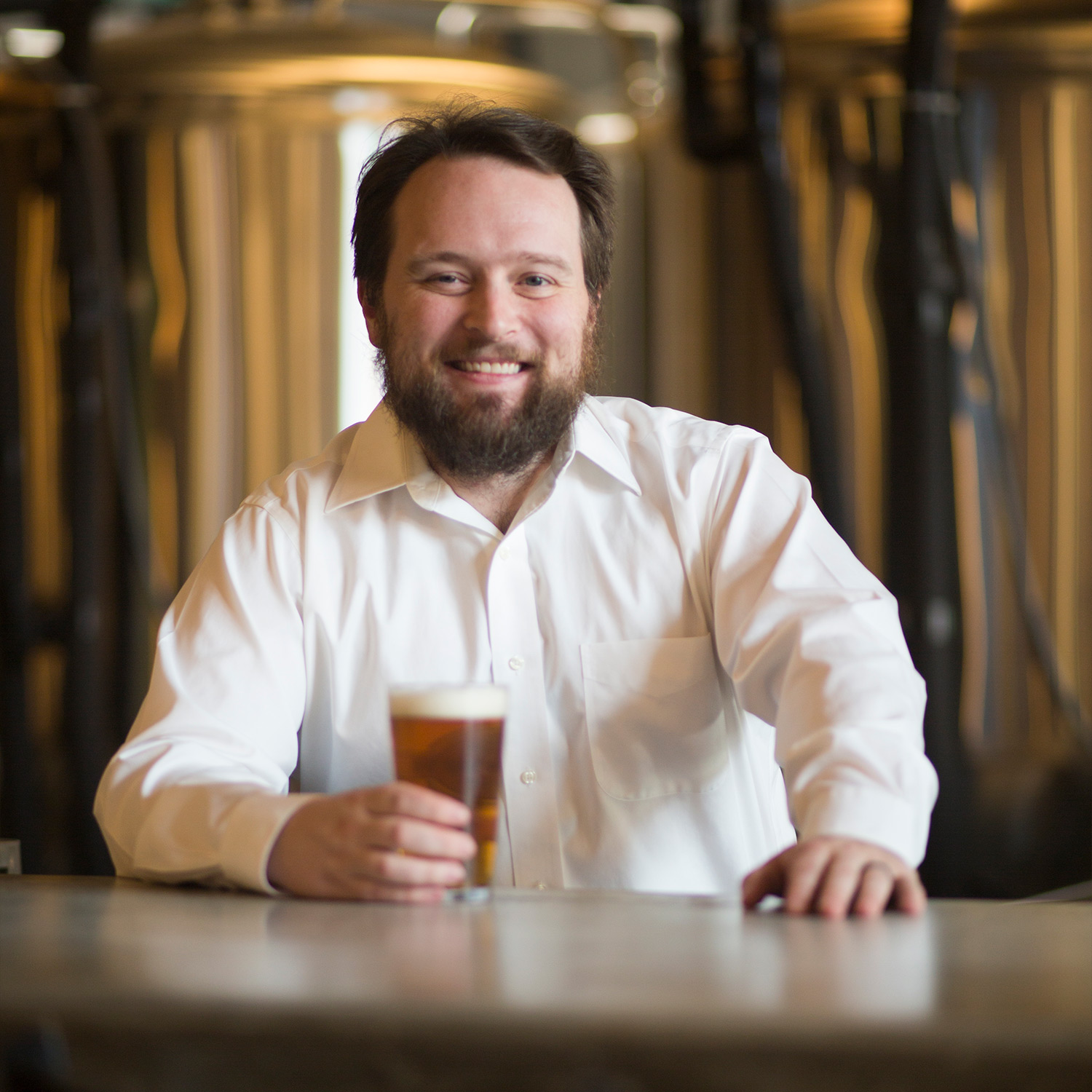 Ben Self,Brewmaster Extraordinaire - With a degree in chemical engineering from the University of Alabama, Ben has a decade of experience working in quality control and production scaling in the beverage industry.