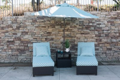 patio umbrellas in Hemet, California.