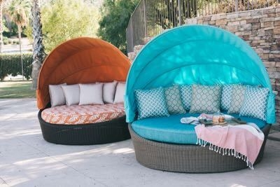 Daybed for lounging in the backyard.