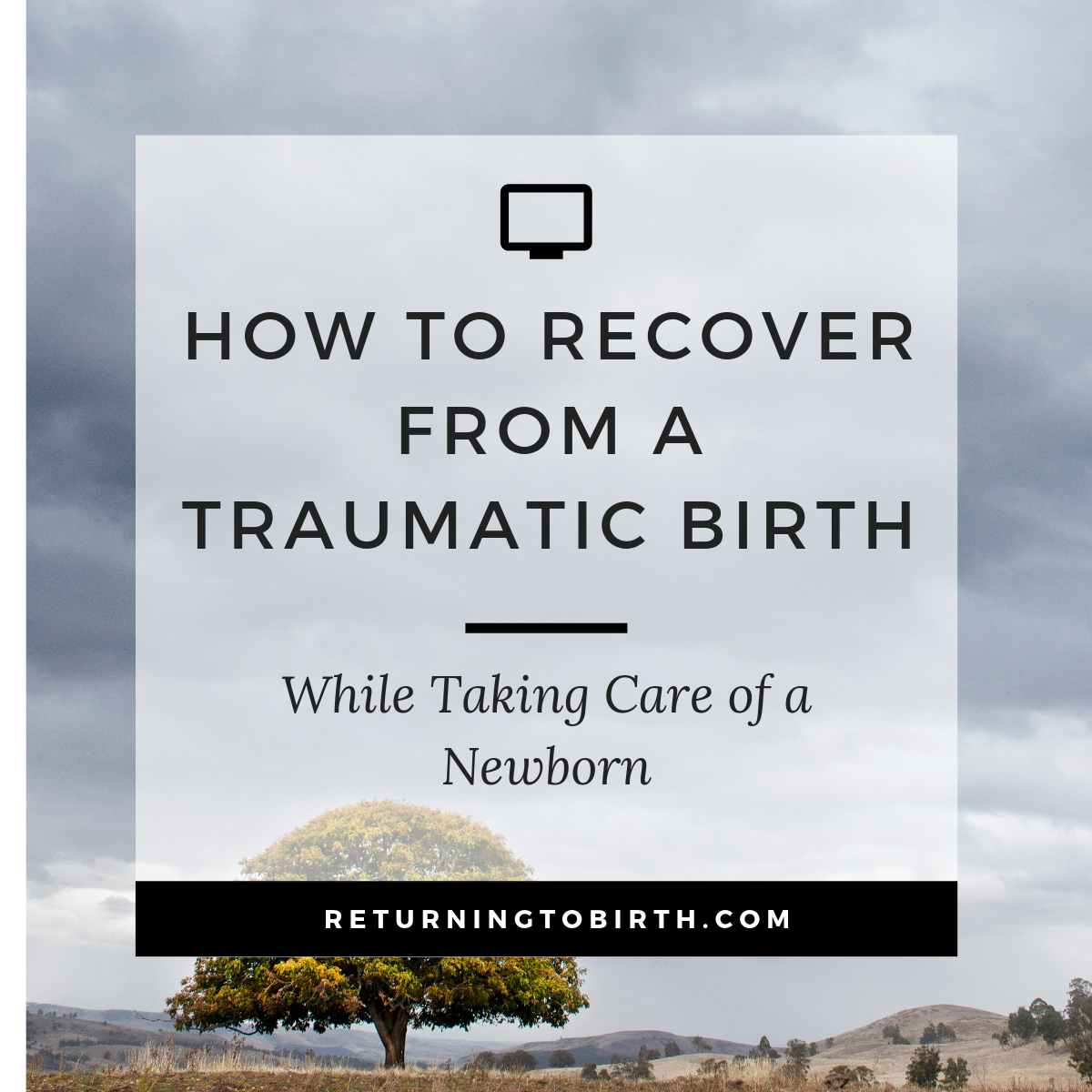 Around 30% of new moms report their birth experience as traumatic. It could be physically traumatic from an emergency situation or unwanted C-Section or emotional traumatic. Recovering from childbirth and taking care of a newborn is HARD even when everything goes perfectly so how are you supposed to do that after a traumatic birth? It's possible! Head over to the blog to read all about it. #traumarecovery #traumaticbirth #newborn