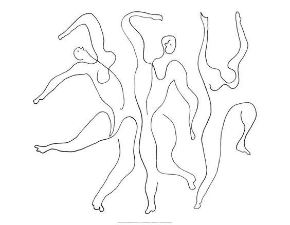 Picasso illustration of dancers