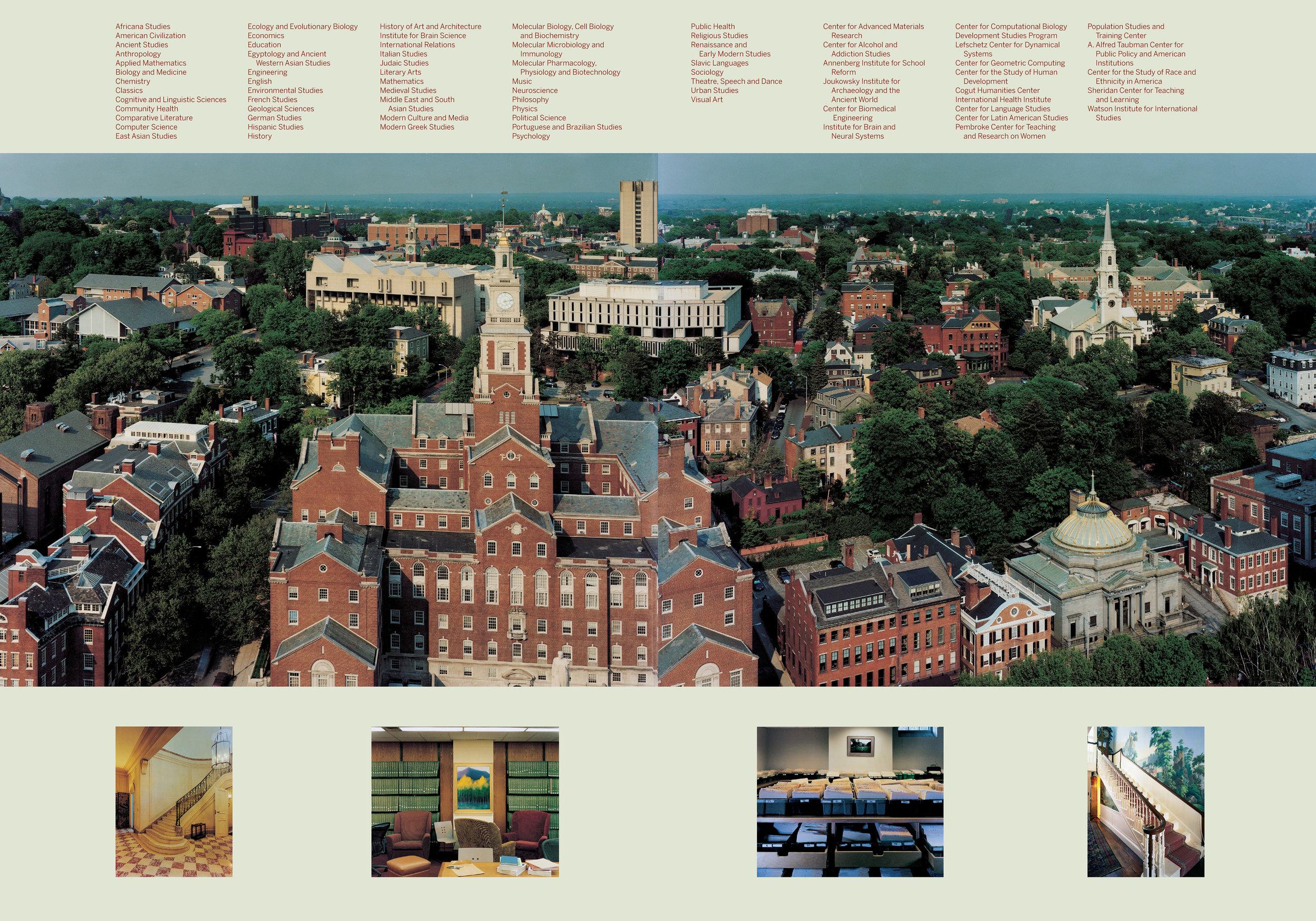 Brown University viewbook endpapers