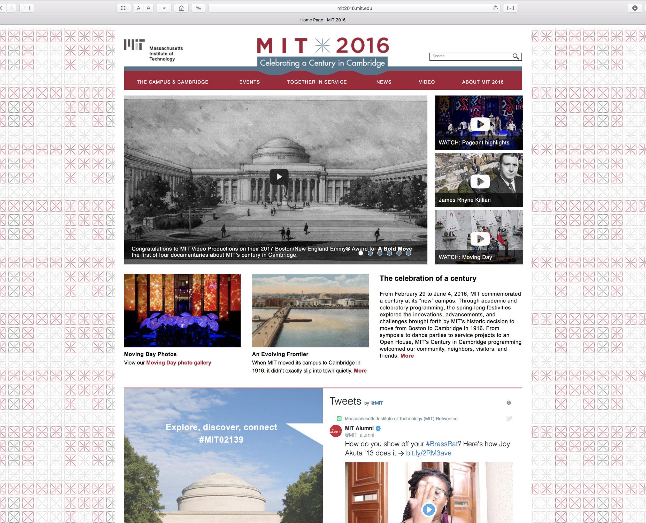 MIT 2016 website