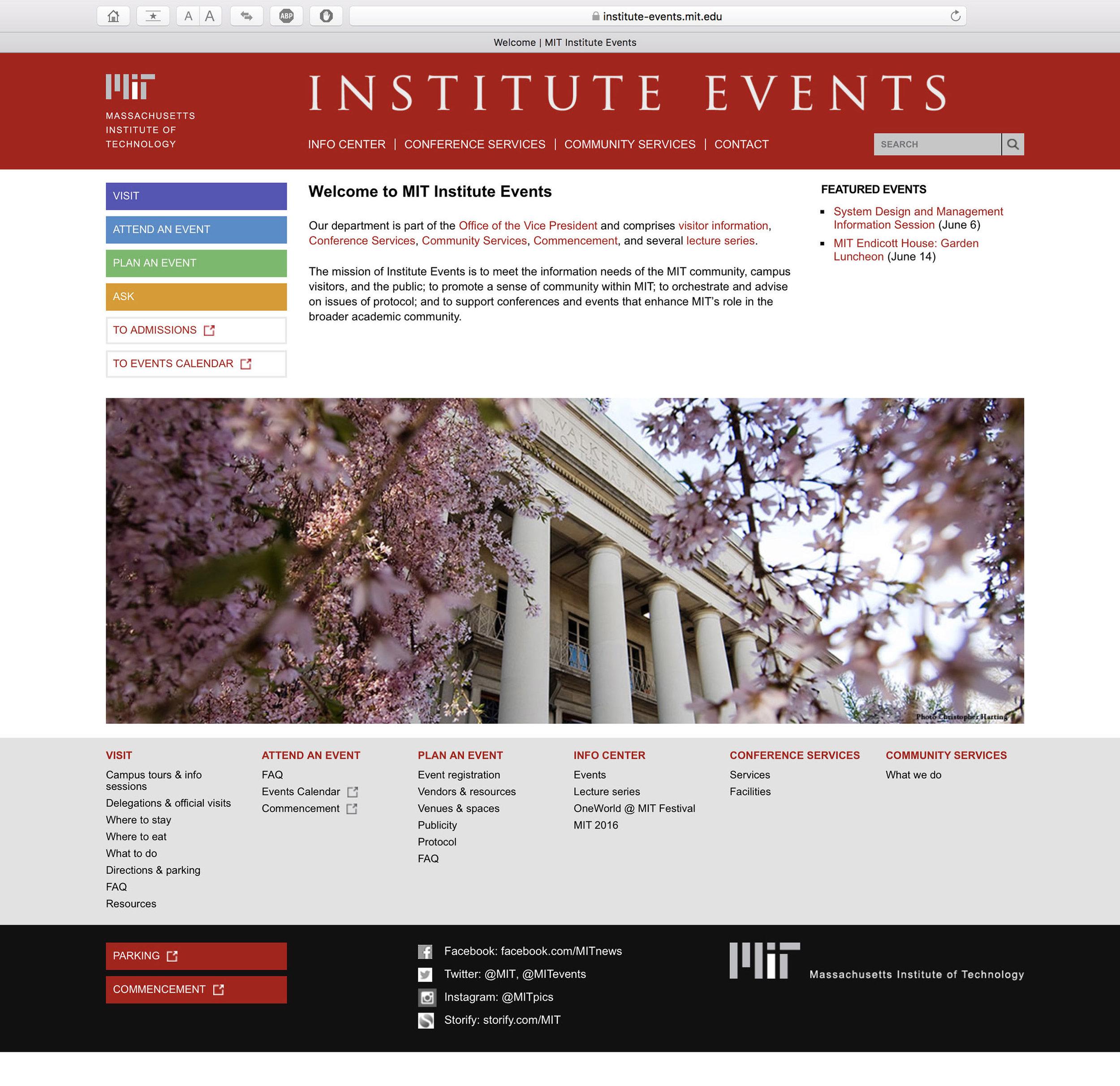 MIT Institute Events