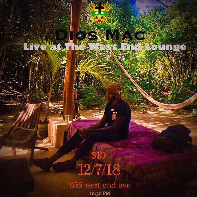 Tonight! tonight! Tonight! Tonight!  Come by and check out my musical experience at the West end Lounge. Literally witness dreams come true. 💞 11pm at 955 west end ave.  See you there.  _______________________________________ #diosmac #macstowe #music #nyc #love #peace #unity #spiritual #model