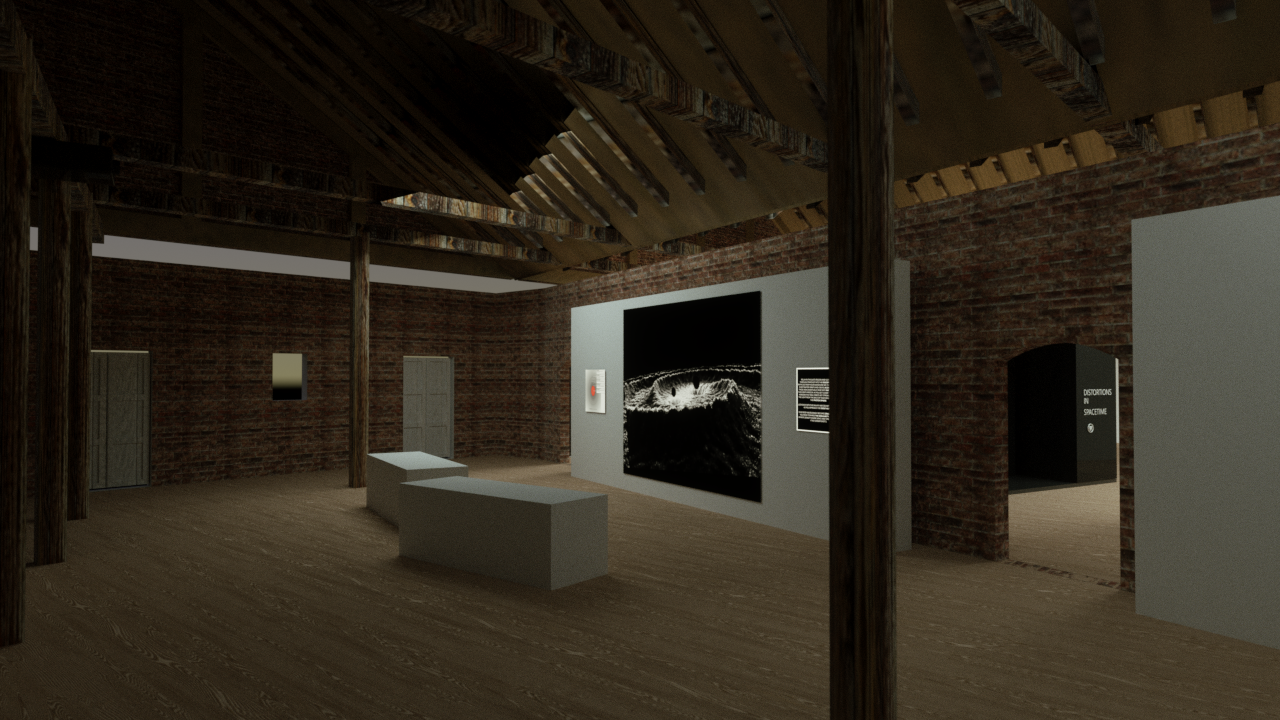 Render of exhibition space in Manchester. Modeled and rendered in Cinema4D and Octane.