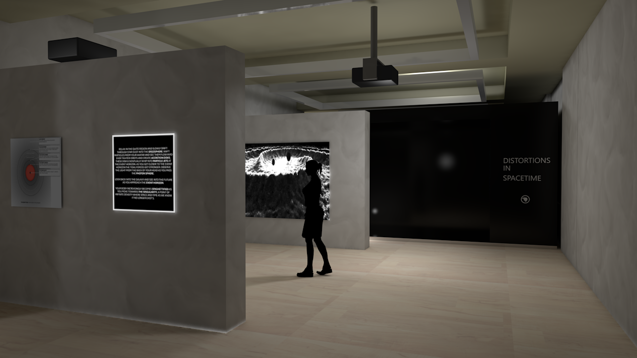 Render of exhibition space in Hull. Modeled and rendered in Cinema4D.