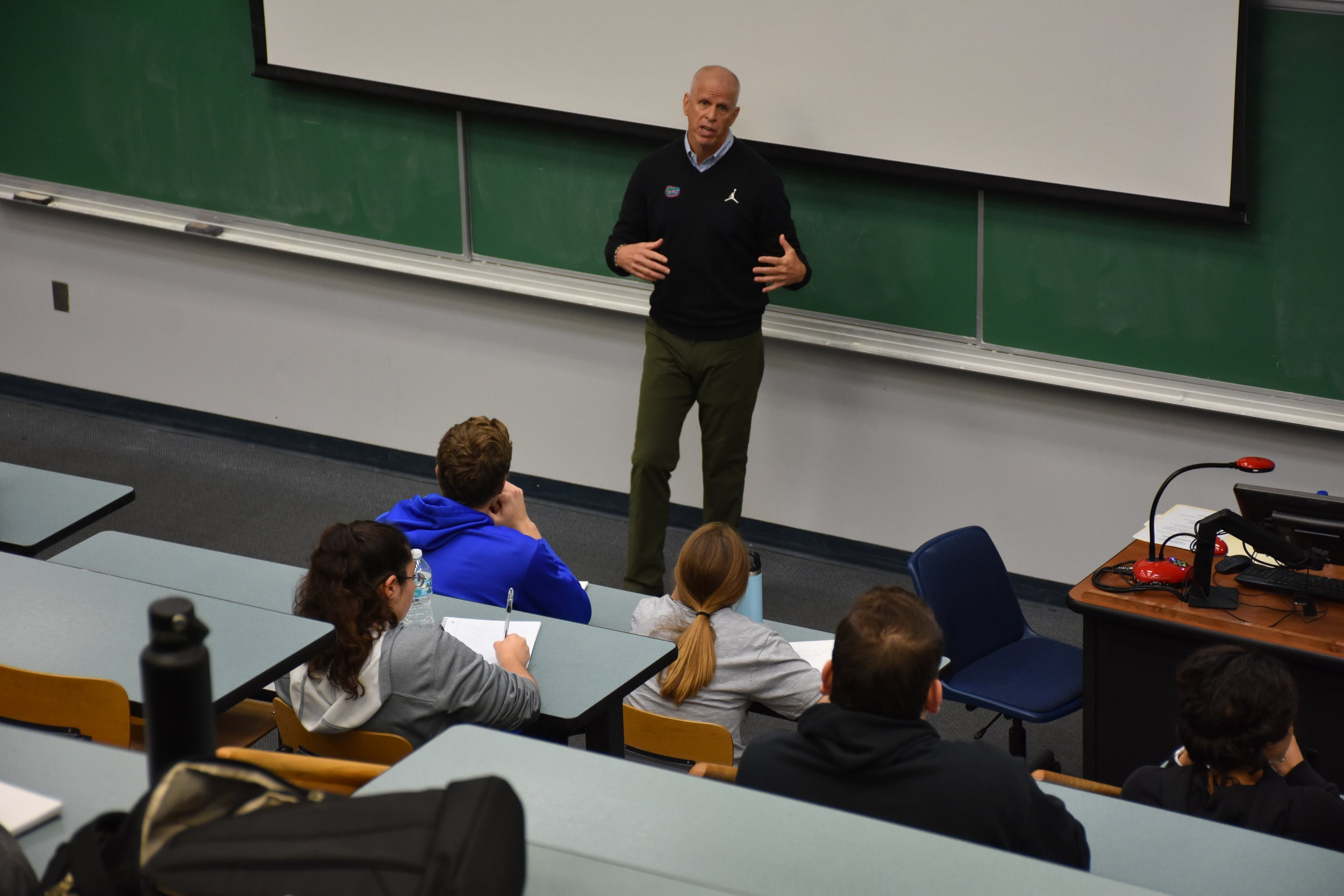 Guest Speaker   Jeremy Foley , AD Emeritus   University Athletic Association     March 20 ( Pictures ) & February 15, 2019 ( Pictures )