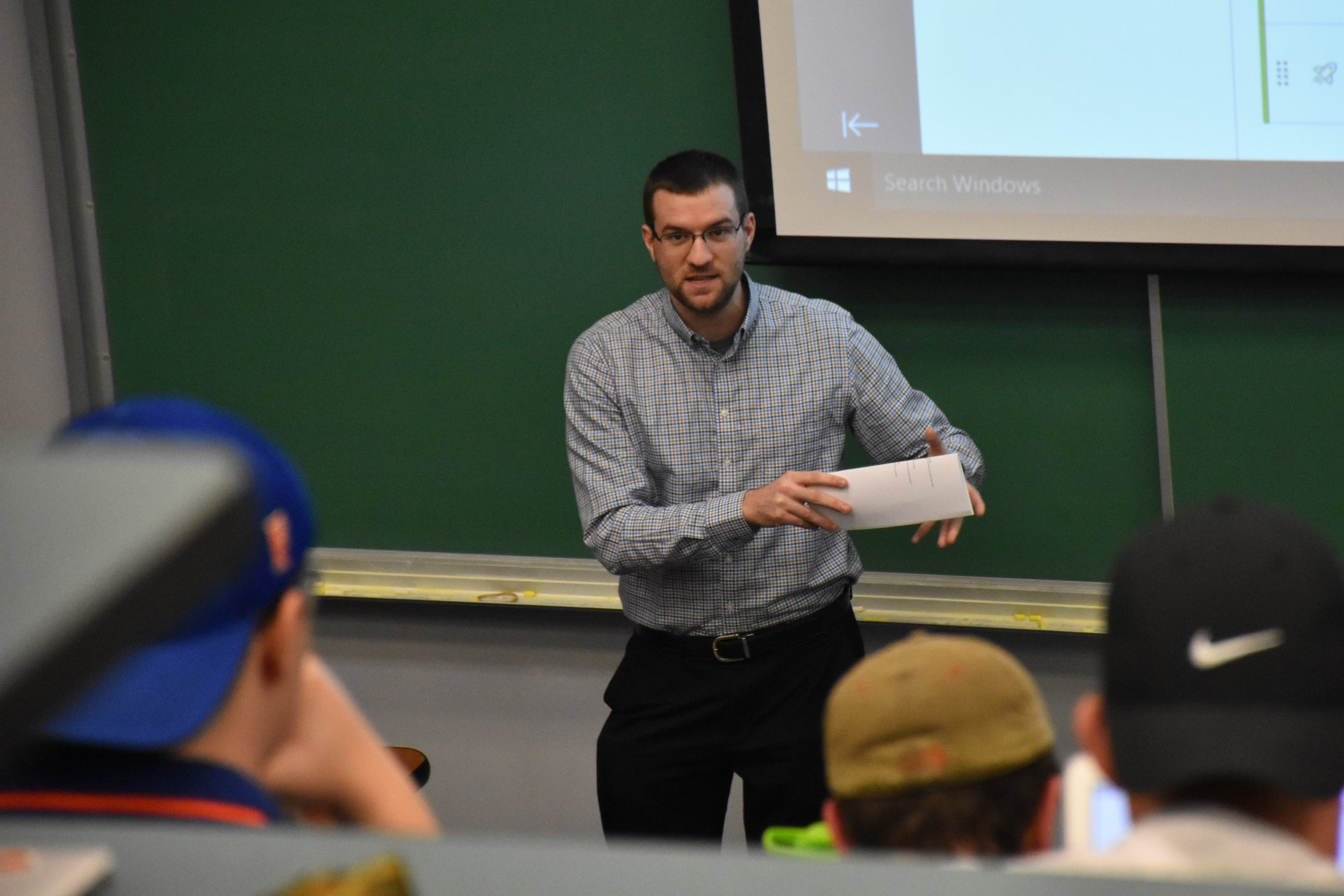 Guest Speaker  Will Pantages, Assistant Director of Communications   Florida Gators     February 21, 2019 ( Pictures )