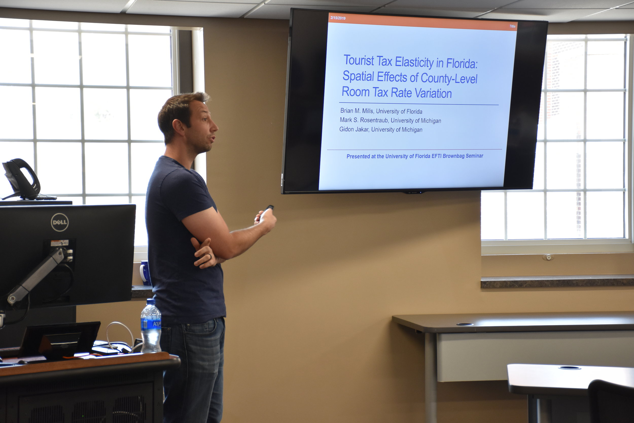 EFTI Seminar Series   Dr. Brian Mills , Assistant Professor  University of Florida,    College of HHP   February 15, 2019 ( Pictures )
