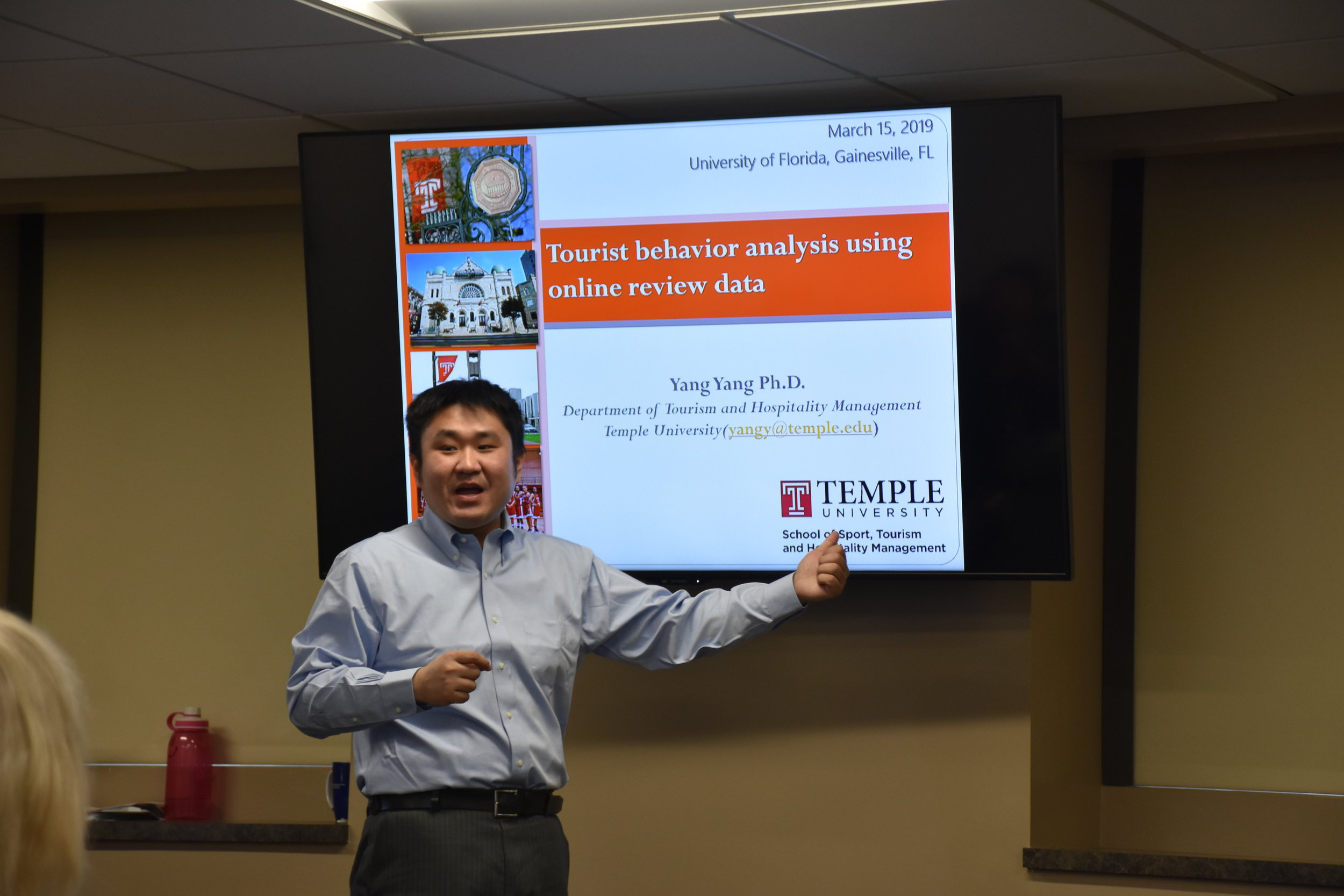 EFTI Seminar Series   Dr. Yang Yang , Assistant Professor   Temple University   March 15, 2019 ( Pictures )
