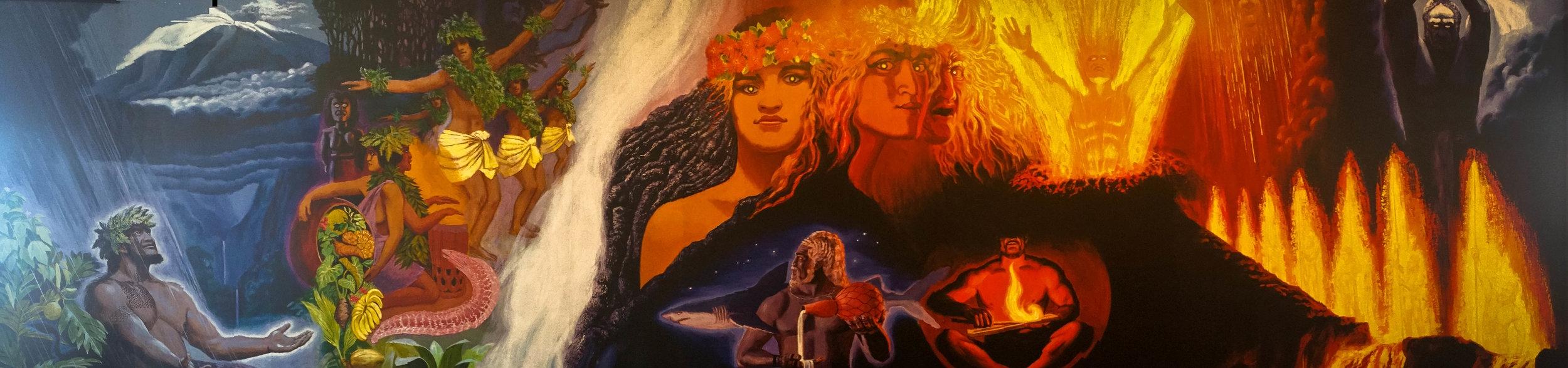 """A Pantheon of Volcano Spirits"" Herb Kāne - Artist"