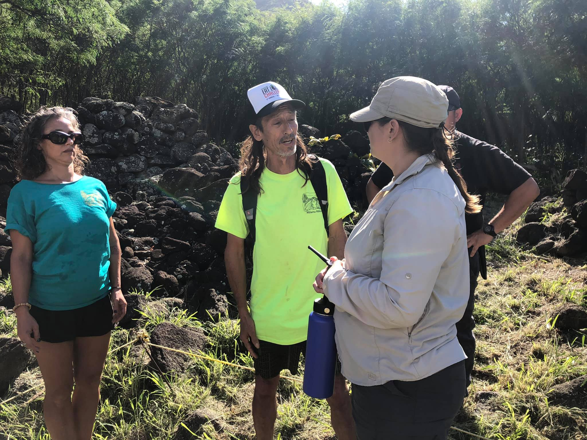 Vince Kanaʻi Dodge makes it clear that the hoʻokupu will not be removed, even under threat of police arrest, because, he said, his orders came from sacred Mākua.